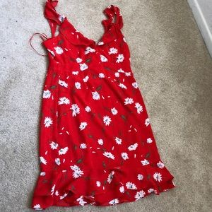 Sugarlips Red Floral DressNWT
